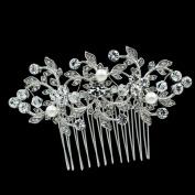 SEP Clear Crystals Rhnestone Hairpins Women Pearl Hair Comb Bridal Wedding Hair Jewellery Accessories FA5052SIL
