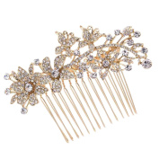 Butterfly Hair Pins Flower Hair Comb Bridal Wedding Jewellery Women Hair Accessories Austrian Crystals Combs 2256R