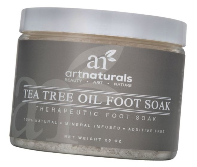 Art Naturals Tea Tree Foot Soak Salt With Epsom Salt 590ml - Fights Athletes foot and Nail Fungus - Helps to Soften Calluses