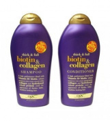 OGX (Thick & Full) Biotin & Collagen Shampoo 580ml + Conditioner 580ml Duo-Set by OGX
