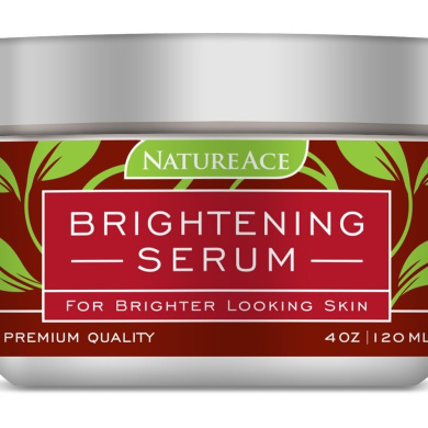 Nature Ace PREMIUM Brightening Serum & Whitening Mask 120ml - For Face, Skin and Body - Made In USA - Results .  - Skin Whitener and Lightener