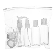 Travel Bottles, PYRUS Transparent Travel Bottle Set Lightweight Pump and Spray Plastic Containers Ideal For Cosmetic Shampoo Shower Gel