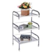 Giantex Rolling Trolley Cart 3 Tiers Hair Beauty Salon Spa Storage Equipment Organiser