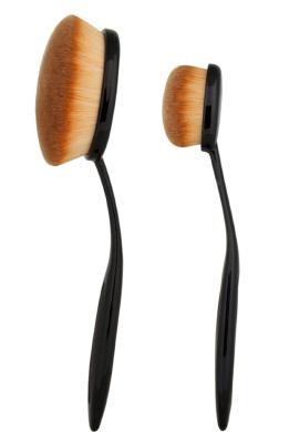 JPNK Synthetic Powder Foundation Cream Makeup Brush (2 Pieces)