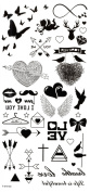 Wonbeauty best and high quality temporary tattoos Butterflies,hearts,arrows,cupid,wings,I LOVE YOU,wings long lasting and realistic temporary tattoos