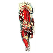 New design and hot selling Full arm red lion realistic and fake temp tattoo stickers for adults
