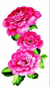 New design and hot selling Red peony realistic and fake temp tattoo stickers for women