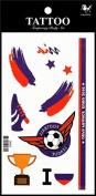 Sport tattoos 2016 European Football Championship Russia Flag tattoo stickers