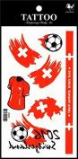 Sport tattoos 2016 European Football Championship Switzerland Flag tattoo stickers