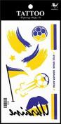Sport tattoos 2016 European Football Championship Ukraine Flag tattoo stickers