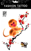 Temporary tattoos for different Zodiac 12 Chinese Zodiac Signs monkey temporary tattoos