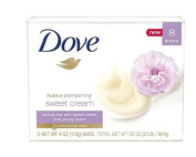 Dove Purely Pampering Sweet Cream and Peony Moisturising Beauty Bar 120ml - 8 Bar