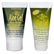 All Terrain Aloe Gel Skin Relief Skin Protectant Gel 2.0 fl oz (60 ml) and All Terrain Aloe Gel Skin Relief Skin Protectant Gel 5.0 fl oz (150 ml) Bundle With 0.5 Allantoin and Moisturising Aloe