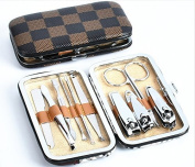 Stainless Steel Manicure Pedicure Set Nail-Clippers Cleaner Cuticle Grooming Kit Case 10 in 1...