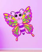 Design with Vinyl RAD 674 1 Colourful Butterfly Kids Girls Teen Baby Nursery Bedroom Vinyl Wall Decal, As Seen, 30cm x 30cm