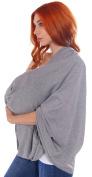 100% Organic Baby Safe Cotton Nursing Scarf / Breastfeeding Cover,Dark Blue