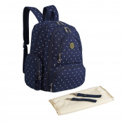 Abonnyc Baby Nappy Bag Travel Nappy Backpack Handbag Large Capacity Fit Stroller