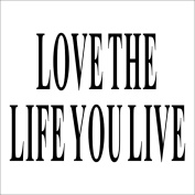 Fange DIY Love The Life You Live Removable Art Mural Vinyl Waterproof Wall Stickers Living Room Decor Bedroom Decal Sticker Wallpaper 33cm x 20cm