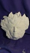 38cm Butterfly Leaf face plaque ceramic bisque u paint