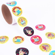 Tinksky Roll of Birthday Cake Decorative Tape Sticker Decal for DIY Craft Decoration