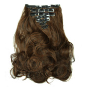 LOUISE MAELYS Long Curly Full Head Clip Hair Extensions Halloween Party Wig