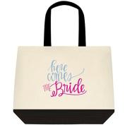 """Here Comes the Bride"" personalised Wedding Bride Tote Bag"