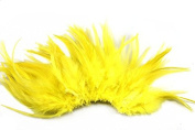 Celine lin 100PCS Saddle Hackle Rooster Feathers Natural Pheasant Neck feathers 10cm - 15cm ,Yellow