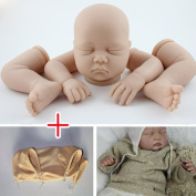 Unpainted Reborn Doll Kits(head,limbs,cloth body) Soft Vinyl Newborn Baby Model Set DIY Art,60cm
