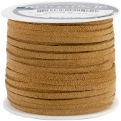 Leather Suede Lace, By the Yard, 0.3cm , Toast
