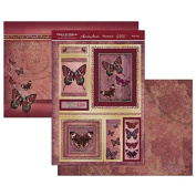Hunkydory Flight of the Butterflies Jewelled Edition Rustic Ruby - Topper Set