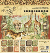 Graphic 45 Safari Adventure 8 x 8 Paper Pad