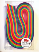 Weaving Paper Strips, 200 Pack, Bright Rainbow Colours
