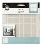 FOLKART 31477 Plaid Design Painting Stencil, 15cm x 15cm