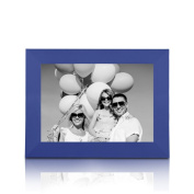 BOJIN 20cm x 25cm Blue Wooden Picture Frame - Holds Picture 20cm x 25cm Picture Frame Without Mat - Wall Mounting Material Included