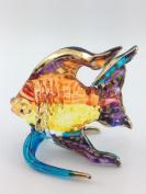 TINY CRYSTAL FISH HAND BLOWN CLEAR GLASS ART FISH FIGURINE ANIMALS GLASS BLOWN FBM05