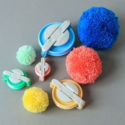 B & Y 4 Sizes Pompom Pom-pom Maker for Fluff Ball DIY Wool Knitting Craft Tool Set