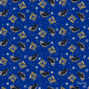 110cm Wide Polar Express Logo Toss Cotton Fabric BY THE HALF YARD