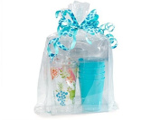 Clear Cellophane Bags Basket Bags Cello Gift Bags Gusset style bag 30cm . X 10cm X 50cm . 10 Pack
