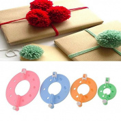 8pcs 4 Sizes Easy Wrap Pompom Pom-pom Maker Fluff Ball Weaver DIY Wool Knitting Needle Craft Craft Tool Kit Set