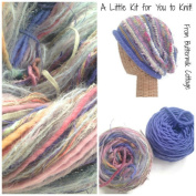 Boutique Yarn Slouchy Hat Knitting Kit Lavender