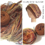 Boutique Yarn Slouchy Hat Knitting Kit Brown