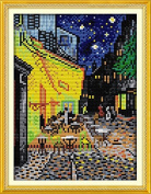 Happy Forever Cross Stitch Scenery, Van Gogh's Coffee Shop