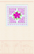 """Postcard cross stitch kit """"Pink tenderness"""" for kids and beginners"""