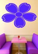 Design with Vinyl RAD 887 3 Flower Baby Girl Teen Bedroom Design Wall Decal, Purple, 50cm x 80cm