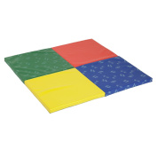 ECR4Kids SoftZone Hands and Feet Play Mat, 4-Fold, Multi-Colour