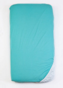 Organic Jersey Knit Waterproof Crib Sheet, Mint