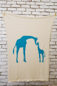 Darzzi Giraffe Blue Baby Blanket