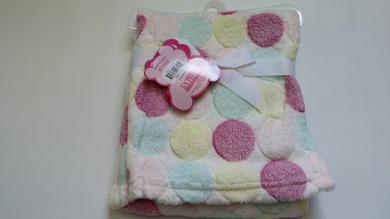 Little Mimos 80cm x 80cm Jacquard Baby Blanket, Assorted Colours (Pink)
