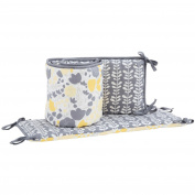 Yellow Tulips 100% Cotton Floral Baby Crib Bumper by Balboa Baby