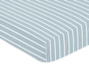Sweet Jojo Designs Fitted Crib Sheet for Blue Green Argyle Baby/Toddler Bedding Set Collection - Stripes